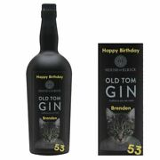 Personalised House Of Elrick Old Tom Gin Bottle Label For Birthday Any Occasion