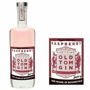 Personalised House Of Botanicals Raspberry Old Tom Gin Bottle Label For Xmas