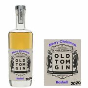 Personalised House Of Botanicals Old Tom Gin Bottle Label For Xmas Any Occasion