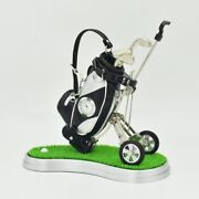 Novelty Golf Pens Holder With Clock And Lawn Tray Unique Christmas Golf Gift