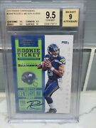 Russell Wilson 2012 Panini Contenders Rookie Ticket Autograph 225a Bgs 9.5