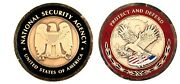 New Nsa National Security Agency Intelligence Challenge Coin Mint With Coin Case