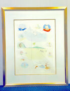 Salvador Dali Lithograph The Twelve Tribes Of Israel Limited Edition 23 Of 60