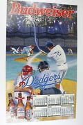 1993 Los Angeles Dodgers Budweiser Wall Poster Mlb Schedule Bar Man Cave