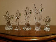 Waterford Crystal Celestial Angels Set Of 5 Guardian Hope Grace Light And Kneeling