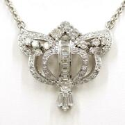 Jewelry Platinum 900 850 Necklace Diamond 2.11 About15.1g Free Shipping Used
