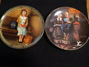 2 Norman Rockwell Decorative Collectible Plates