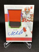 2018 Panini National Treasures Nick Chubb Rpa Rc Patch Auto 15/25 Clevland Brown
