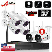 Wifi 2-way Audio Security Camera System Wireless Outdoor 8ch Nvr 2mp Hd Cctv P2p