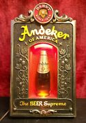 Andeker Pabst Blue Ribbon Lighted Beer Sign The Beer Supreme Rare Collectible