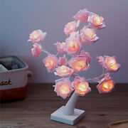 Battery Powered Usb Led Rose Flower Fairy Tree Light Home Party Decoration Lamp