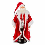 Katherine's Collection 2020 Snow Day Santa Doll, 32 Inches