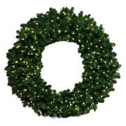 Barcana Breckenridge Wreath With Warm White Led Minis 72 Inches