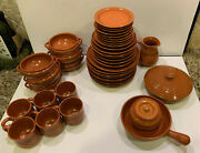 41pc Terra Cotta Clay Hand-made Pottery Rogers Villalobos Dinner Plate Bowl Cup