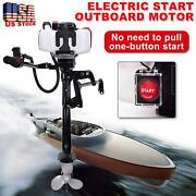 3.6hp2 Stroke Electric Start Outboard Motor Boat Engine Water Cooling System Usa