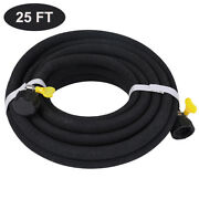Heavy Duty Soaker Hose 25ft 1/2andrsquoandrsquo Diameter Interface Saves 70 Water For Garden