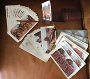 Antique Wooden Stereo Scope Card Viewer And 30 World Travel Cards Very Good Cond