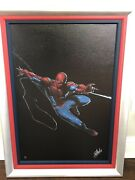Stan Lee Signed Marvel Print Numbered Limited Edition 4/10 - Spiderman