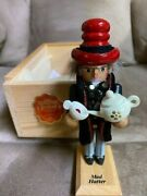 Steinbach Mad Hatter Nutcracker Taron Collection 5,5 In Crate Signed L.e..
