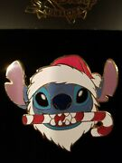 Disney Auctions Da Pin Le 100 Stitch Santa Claus Hat Jumbo Lilo Candy Cane