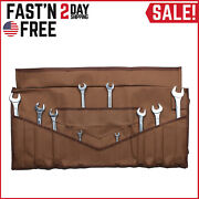 Bull Tools Wrench And Tool Roll 22+4 Pocket 100 Dyed 15 Oz. Cotton Duck Canvas