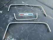 66 67 68 Sport Fury Rear Package Tray Speaker Cover Trim Molding And Emblem Badge