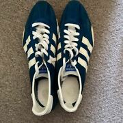 Adidas 100m Track Shoes Kangaroo Leather Sneakers Made 1967 Men's Shoes Unused