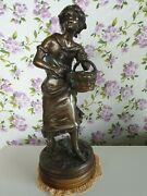 French Antique Bronze Harvest Figure By Rancoulet 16 High Free Uk Pandp