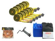 Flatbed Tie Down Kit - 41 Pieces 4 Inch Kinedyne Winch Strap, Winch Strap Band,