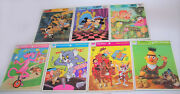 Lot Of 7 Frame-tray Puzzles Disney, Pink Panther, Tom And Jerry, Bugs Bunny +