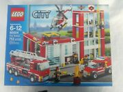 Lego 60004 Fire Station City Lego - Nib Sold Out Fire Truck New Rare