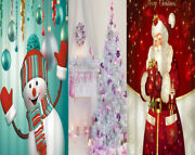 Merry Christmas Fabric Shower Curtain Sets Bathroom With Hooks