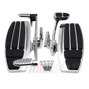 Front Foot Board Driver Floorboard Chrome For Honda Goldwing Valkyrie Gl1800 F6b