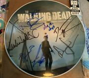 The Walking Dead Picture Disc Cast Signed Autograph Andrew Lincoln Norman Reedus