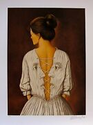 Rafal Olbinski She Stoops To Folly Hand Signed Limited Edition Serigraph Art