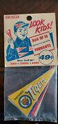 1960's Vintage Baseball Pennants 1.5 X 3.5 Inch Decal Post Cereal Mini Pennants