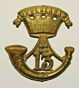 British Military Cap Badge 13th Somersetshire Light Infantry Regiment Of Foot