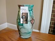 Opera Italia By Franco Italy Hand Made 8 Shades Of Green And Brown Art Glass Vase