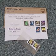 New Zealand 1982 Mineral Fdc And Stamp Subscription Mail Mnh Complete Souvenir Nz