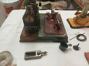 Marklin Steam Engine 4097/5 1930and039s And Doll Comp. Carousel And Accessories-rare From