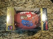 Tom Brady Autographed Authentic Duke Superbowl 36 Football And Game Placard