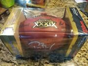 Tom Brady Autographed Authentic Duke Superbowl 39 Football And Game Placard
