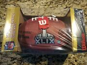 Tom Brady Autographed Authentic Duke Superbowl 49 Football And Game Placard
