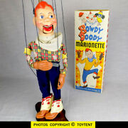 Howdy Doody Marionette With Custom Display Stand Peter Puppet Playthings