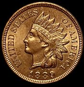 1889/889 Indian Head Cent Red Lustrous Solid Gem Snow-22 Rpd Variety Ih827