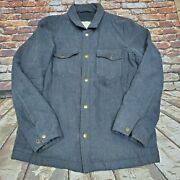 395 Billy Reid Devon Quilted Snap Shirt Jacket Size L Gray