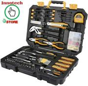 196 Piece Tool Set General Household Hand Tool Kit With Rip Claw Hammer Gift