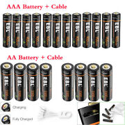 Lot Ebl Usb Rechargeable Lithium Aaa Aa Batteries 1.5v + Micro Usb Cable