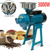 3000w Electric Grinder Feed Wheat Mill Dry Corn Grain Cereals Wet And Dry Machine
