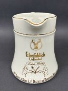 Glenfiddich Unblended Scotch Whiskey Pub Jug Water Pitcher Wm Grant And Sons